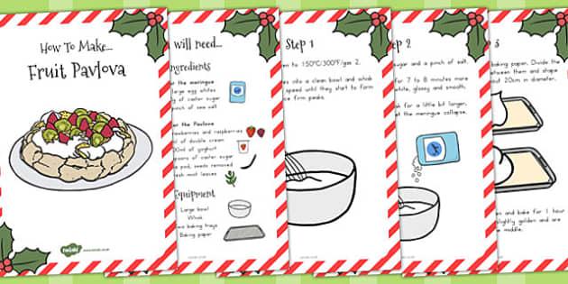 Christmas Fruit Pavlova Recipe Booklet - australia, christmas
