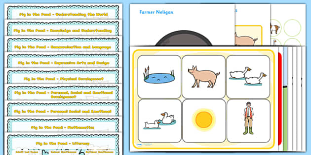 Lesson Plan and Enhancement Ideas EYFS to Support Teaching on Pig in the Pond - pig in the pond, EYFS