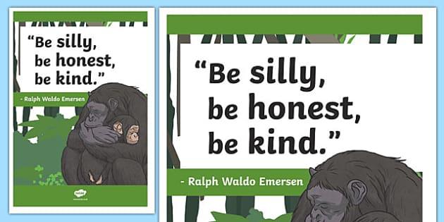 Ralph Waldo Emerson Inspirational Classroom Quote Display Poster - usa, america, inspirational quote, display, motivation, inspiration,