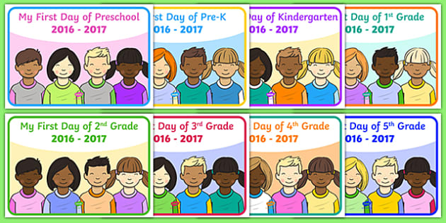 My First Day of School Display Poster
