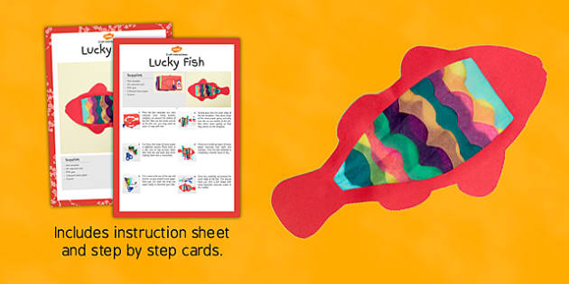 Lucky Fish Craft Instructions - chinese new year, lucky fish, lucky, fish, new year