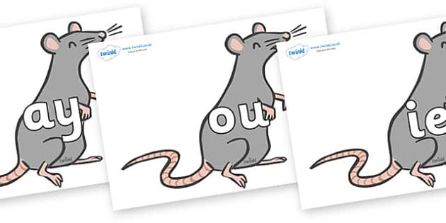 Phase 5 Phonemes on Rats - Phonemes, phoneme, Phase 5, Phase five, Foundation, Literacy, Letters and Sounds, DfES, display
