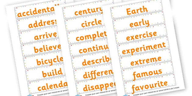 Yr 3 tricky words - KS2 Spelling Primary Resources, Spelling, KS2 Spelling, KS2