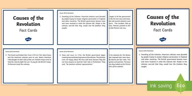 American Revolution Fact Cards - American Revolutionary War, boston tea party,Boston, george washington, martha washington, founding