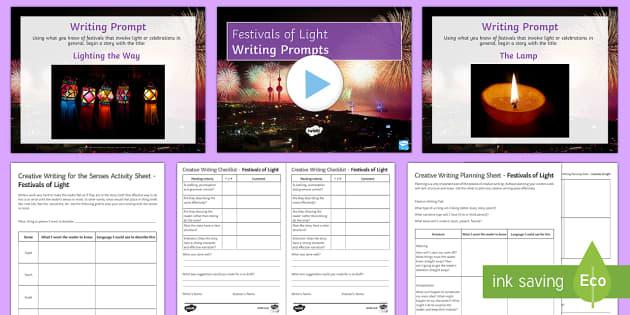 Festivals of Light Writing Stimulus Picture