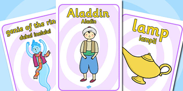 Aladdin Display Posters EAL Romanian Translation - romanian