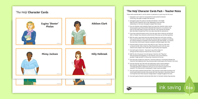 The Help Character Cards Pack