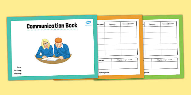 Home School Communication Book Secondary - home school, communication, book, secondary