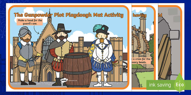 The Gunpowder Plot Themed Playdough Mats