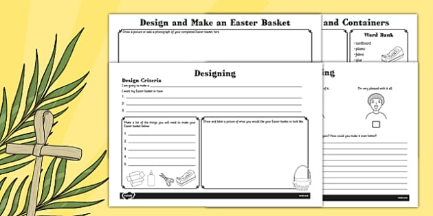 Design and Make an Easter Basket Booklet - designing, bonnets