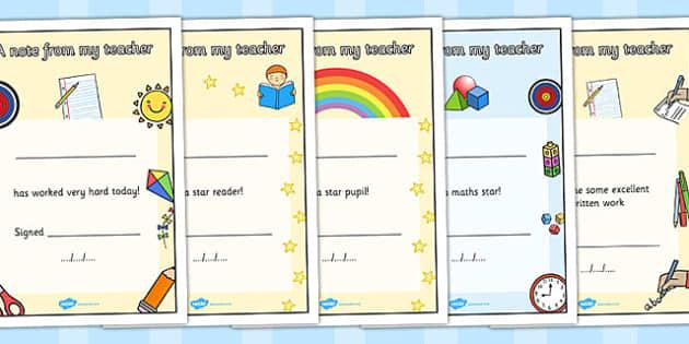 Editable Notes to Parents - Praise pad, parent notes, parent note, parent communication, award, reward, certificate, editable, editable resource