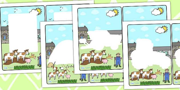 Farm Themed Editable Notes to Teacher - farm, teacher notes, note
