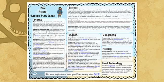 Pirate Lesson Plan Ideas KS2 - pirate, lesson plan, idea, KS2