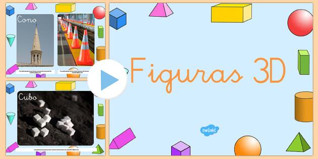 Fotos de figuras 3D Presentación-Spanish - formas 3D, identificación de figuras,Spanish - formas 3D, identificación de figuras,Spanish