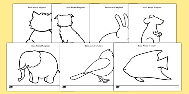 Basic Animals Template Resource Pack - basic, template, resource, pack, animals