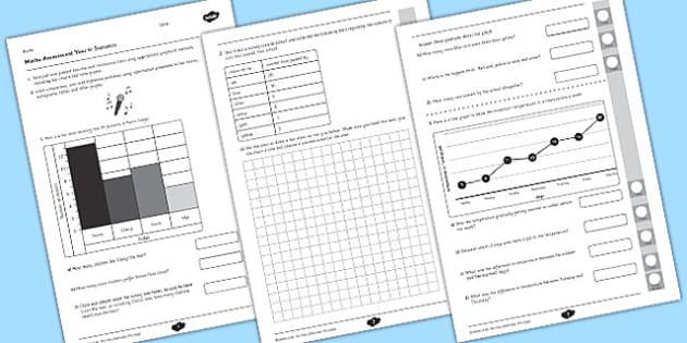 Year 4 Maths Assessment Statistics Term 1 - assessments, assess, math