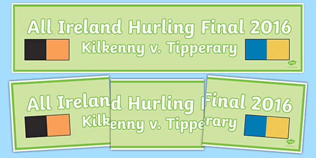 All Ireland Hurling Final 2016 Display Banner-Irish