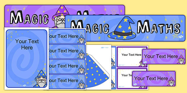 Magic Maths Area Display Pack - maths, numeracy, maths display