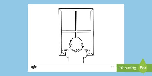 Doodle Draft Window View Activity Sheet - ROI, Ireland, doodle, draft, sketch, starter, creative, drawing, art, worksheet, activity sheet,Iris
