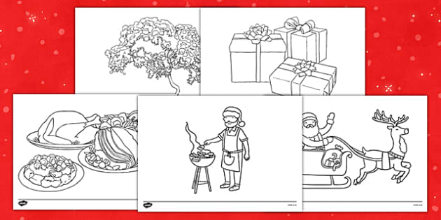 Christmas Colouring Sheets - nz, new zealand, christmas, colouring, sheets, colour