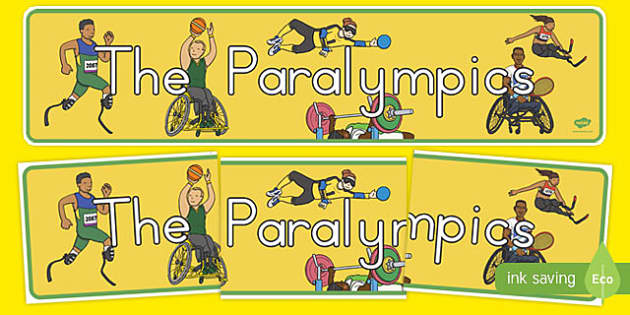 The Paralympics Display Banner - australia, paralympics, rio 2016, rio olympics, 2016 olympics, display banner, display, banner