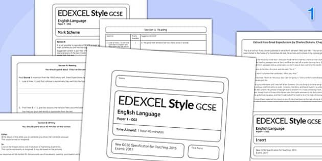 GCSE English Language Exam Paper 1 EDEXCEL - gcse, english, language, ecam paper, edexcel