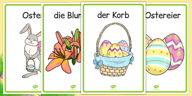 Easter Display Posters German - german, easter, display posters, easter display