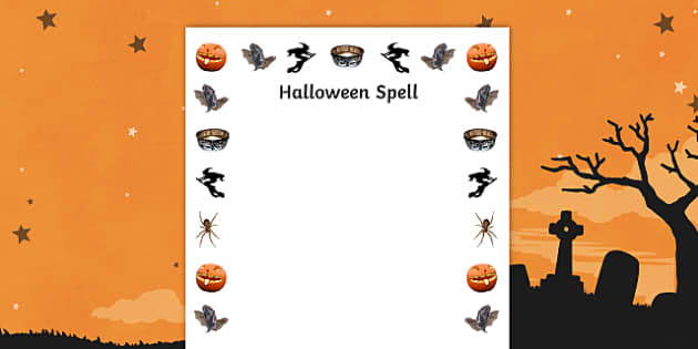 Hallowe'en Spell Border - halloween, hallowe'en, spell, border