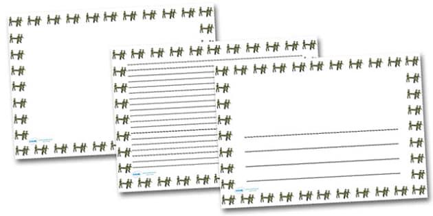 Stretcher Landscape Page Borders- Landscape Page Borders - Page border, border, writing template, writing aid, writing frame, a4 border, template, templates, landscape