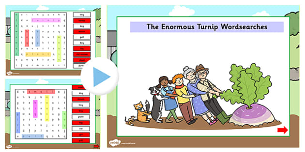 The Enormous Turnip Interactive Wordsearch - wordsearch, story