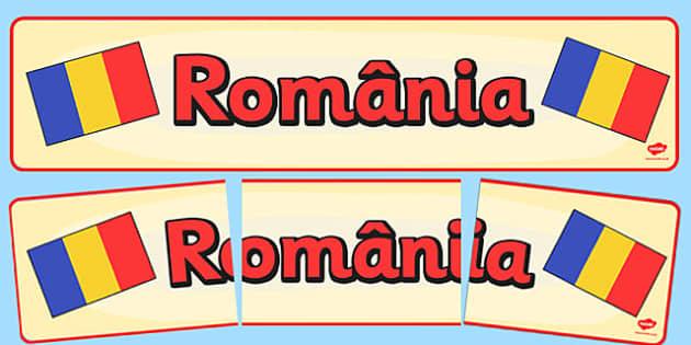 Banner Romania -  ziua nationala a romaniei 1 decembrie