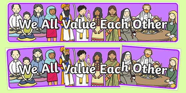 We All Value Each Other Display Banner - we all value each other, display banner, display, banner