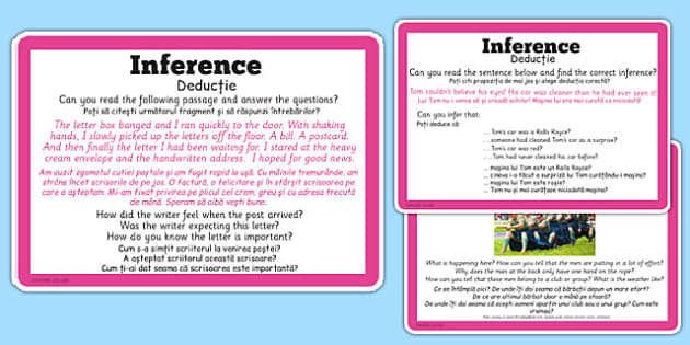 Guided Reading Skills Task Cards Inference Romanian Translation - romanian, guided reading, skills, task, cards, inference