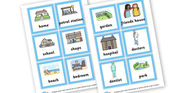 Place Word Cards - Visual Timetables Primary Resources, visual, timetables, routine