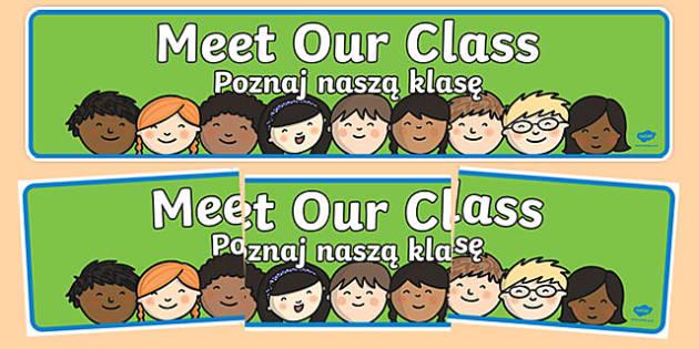 Meet Our Class Display Banner Polish Translation-Polish-translation