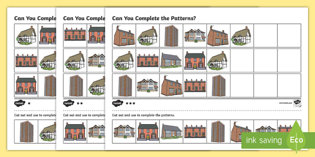 Houses and Homes, Writing Frames and Worksheets - Page 1
