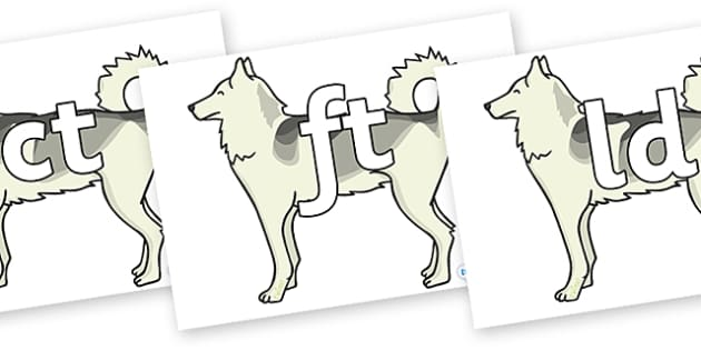 Final Letter Blends on Huskies - Final Letters, final letter, letter blend, letter blends, consonant, consonants, digraph, trigraph, literacy, alphabet, letters, foundation stage literacy