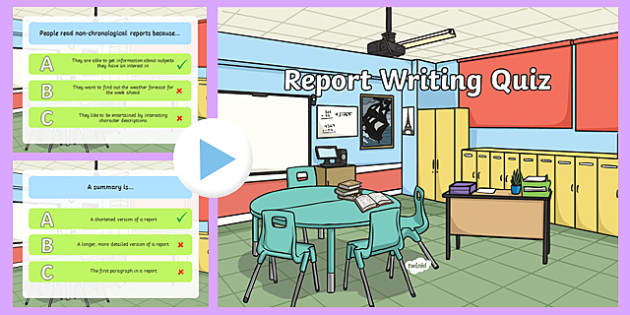 Report Writing PowerPoint Quiz - report, writing, powerpoint