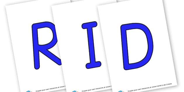 Riddles - display lettering - Display Lettering Primary Resources, cut out, letters, display