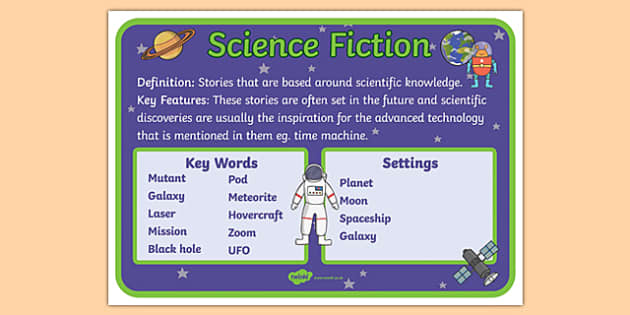 Story Genres Science Fiction Display Poster - story genres, story genre posters, science fiction poster, different genres, reading corner posters, ks2