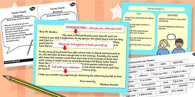 Persuasion PowerPoint and Success Criteria Task Setter Activity Pack