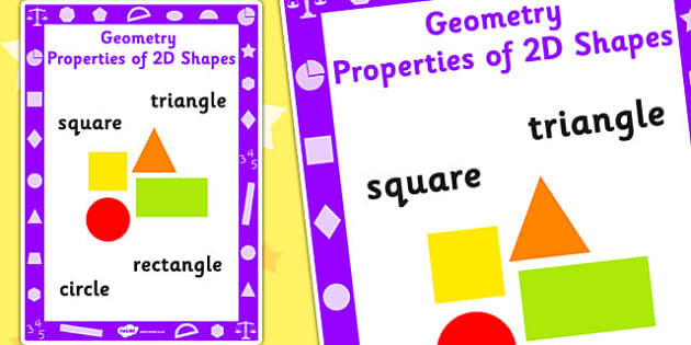 Key Stage 1 Geometry Properties of 2D Shapes Poster - Shapes, Geometry