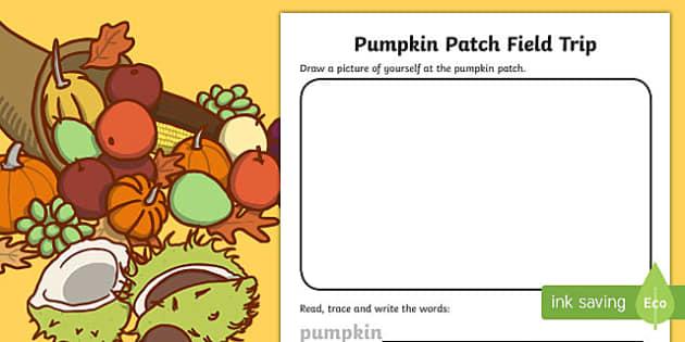 Pumpkin Patch Field Trip Activity Sheet
