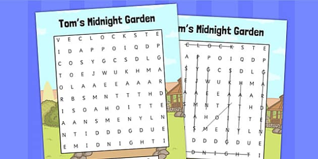 Toms Midnight Garden Wordsearch - wordsearch, words, garden
