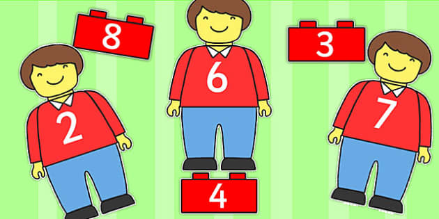 Lego Man Number Bonds Matching Activity - number bonds, maths