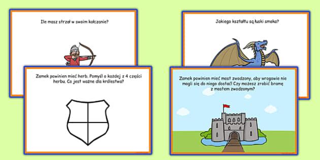 Karty z wyzwaniami Średniowieczny zamek po polsku - królowa