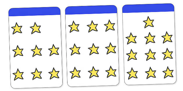 Count the Stars Activity Cards (1-10) - education, home, free