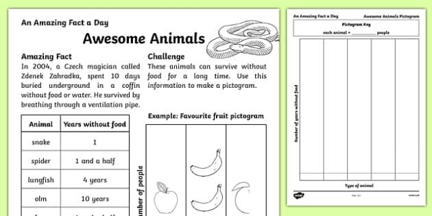 Awesome Animals Activity Sheet, worksheet