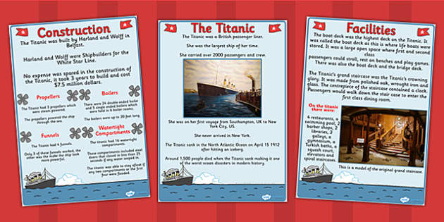 The Titanic Information Posters - titanic, posters, history