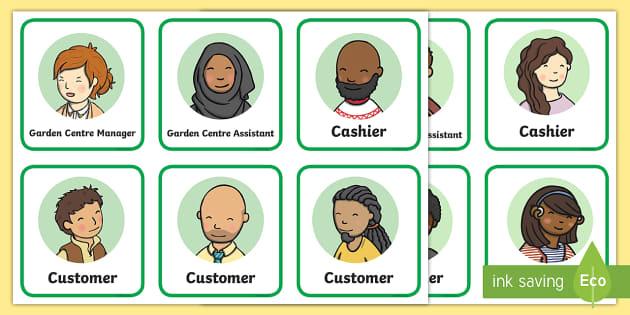 Garden Centre Role Play Badges - garden centre, role play, badges, roleplay, activity